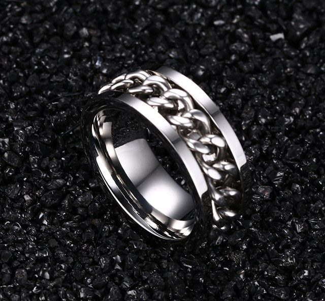 Men's Chain Decor Ring